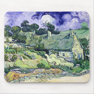 Vincent van Gogh | Thatched cottages at Cordeville Mouse Pad