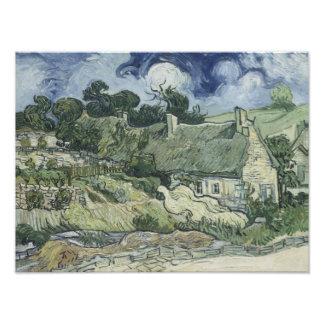 Vincent van Gogh - Thatched Cottages at Cordeville Photo Print