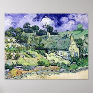 Vincent van Gogh | Thatched cottages at Cordeville Poster