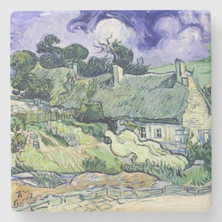 Vincent van Gogh | Thatched cottages at Cordeville Stone Coaster