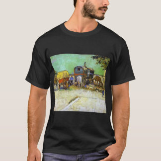 vincent van gogh the caravans  gypsy camp near arl T-Shirt