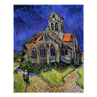 Vincent Van Gogh - The Church at Auvers Poster