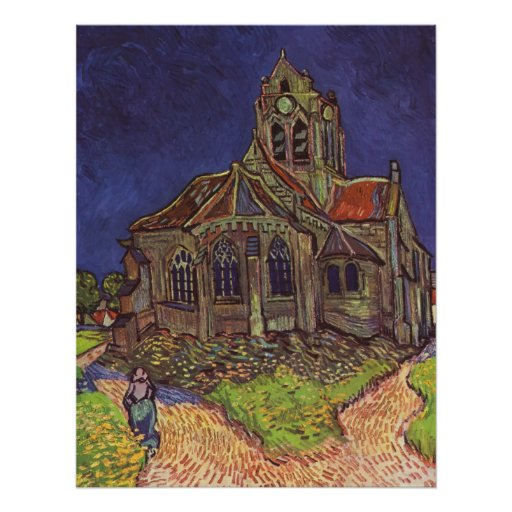 Vincent Van Gogh - The Church at Auvers Posters