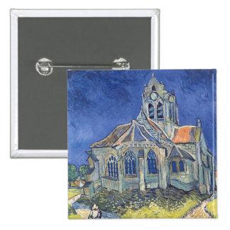 Vincent van Gogh | The Church at Auvers-sur-Oise 15 Cm Square Badge