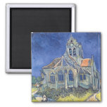 Vincent van Gogh | The Church at Auvers-sur-Oise Square Magnet