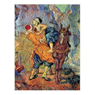 Vincent Van Gogh - The Good Samaritan - Fine Art Postcard