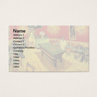 Vincent Van Gogh - The Night Cafe Fine Art Business Card