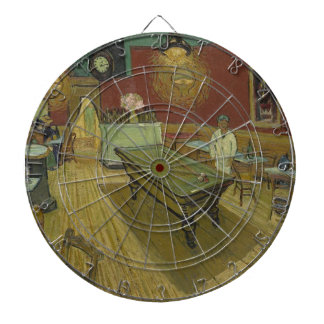Vincent Van Gogh The Night Cafe Painting Art Work Dartboard