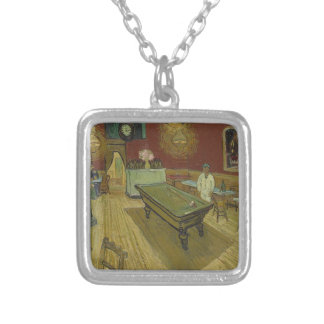 Vincent Van Gogh The Night Cafe Painting Art Work Silver Plated Necklace