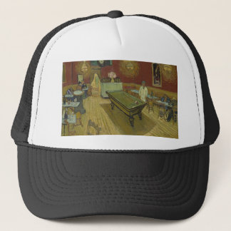 Vincent Van Gogh The Night Cafe Painting Art Work Trucker Hat