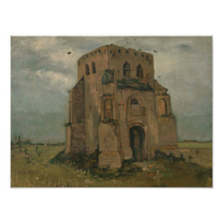 Vincent van Gogh - The Old Church Tower at Nuenen Art Photo
