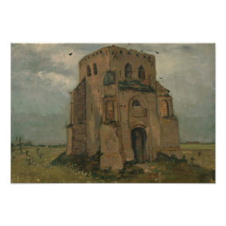 Vincent van Gogh - The Old Church Tower at Nuenen Photographic Print