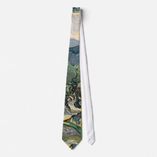 Vincent van Gogh, The Olive Trees.  Famous art Tie
