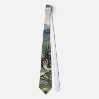 Vincent van Gogh, The Olive Trees.  Famous art Tie