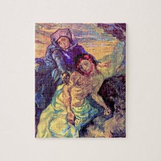 Vincent Van Gogh - The Pieta - Jesus & Virgin Mary Jigsaw Puzzle