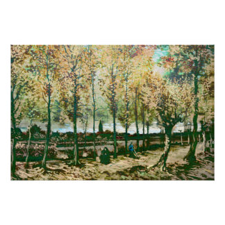 Vincent Van Gogh - The poplars in Nuenen Poster