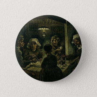 Vincent Van Gogh The Potato Eaters Painting. Art 6 Cm Round Badge