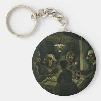 Vincent Van Gogh The Potato Eaters Painting. Art Key Ring
