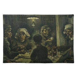 Vincent Van Gogh The Potato Eaters Painting. Art Placemat