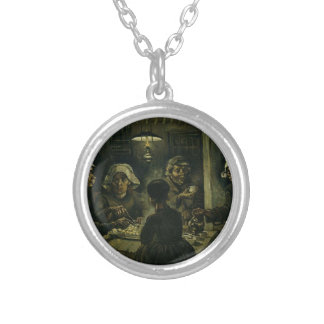 Vincent Van Gogh The Potato Eaters Painting. Art Silver Plated Necklace