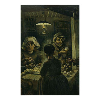 Vincent Van Gogh The Potato Eaters Painting. Art Stationery