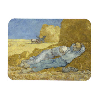 Vincent van Gogh - The Siesta (after Millet) Rectangular Photo Magnet