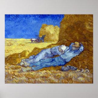 Vincent van Gogh The Siesta Poster