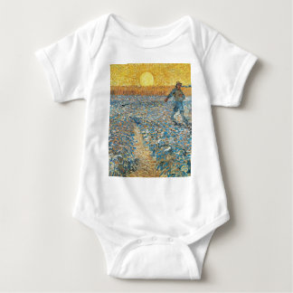 Vincent Van Gogh The Sower Painting Art Baby Bodysuit
