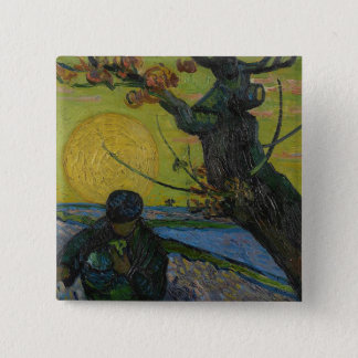 Vincent Van Gogh - 'The Sower' Painting. Art Badge