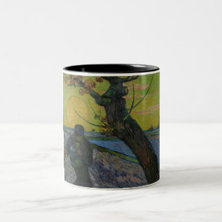 Vincent Van Gogh - 'The Sower' Painting. Art Mug. Two-Tone Coffee Mug