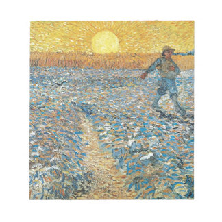 Vincent Van Gogh The Sower Painting Art Notepad