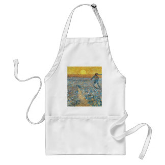 Vincent Van Gogh The Sower Painting Art Standard Apron