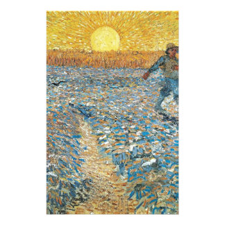 Vincent Van Gogh The Sower Painting Art Stationery Paper