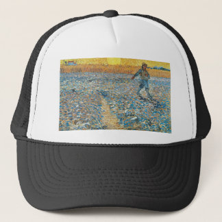 Vincent Van Gogh The Sower Painting Art Trucker Hat