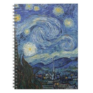 Vincent van Gogh | The Starry Night, June 1889 Spiral Notebook