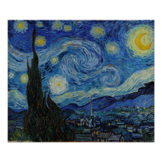 Vincent van Gogh - The Starry Night | Masterpiece Poster