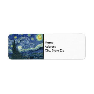 Vincent Van Gogh The Starry Night Return Address Label