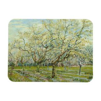 Vincent van Gogh - The White Orchard Rectangular Photo Magnet