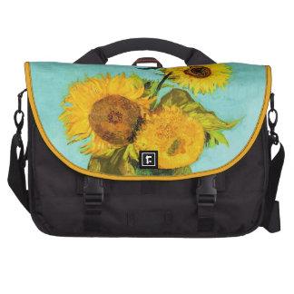 Vincent Van Gogh Three Sunflowers In A Vase Laptop Commuter Bag