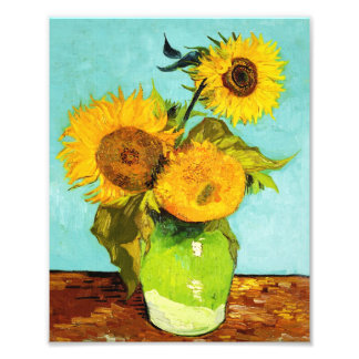 Vincent Van Gogh Three Sunflowers In A Vase Photo Print