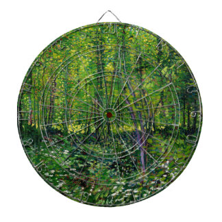 Vincent Van Gogh Trees And Undergrowth Dartboard