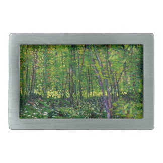 Vincent Van Gogh Trees And Undergrowth Rectangular Belt Buckles