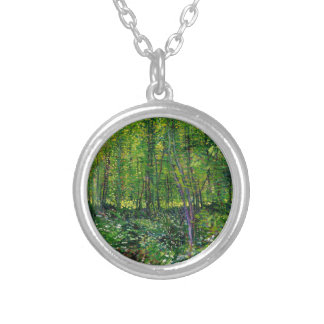 Vincent Van Gogh Trees And Undergrowth Silver Plated Necklace