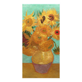 Vincent Van Gogh Twelve Sunflowers In A Vase Picture Card