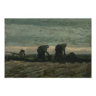 Vincent van Gogh - Two Women on the Heath Photo