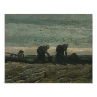 Vincent van Gogh - Two Women on the Heath Photo Art