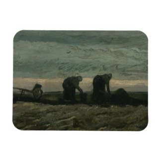 Vincent van Gogh - Two Women on the Heath Rectangular Photo Magnet