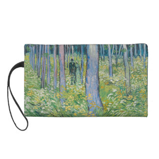 Vincent van Gogh - Undergrowth with Two Figures Wristlet Purses