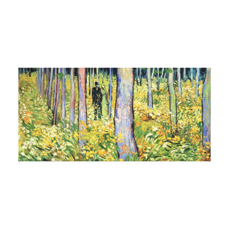 Vincent Van Gogh - Undergrowth With Two Figures Canvas Print