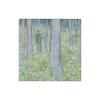 Vincent van Gogh - Undergrowth with Two Figures Stone Magnet
